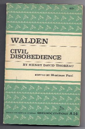 WALDEN CIVIL DISOBEDIENCE by Henry David Thoreau